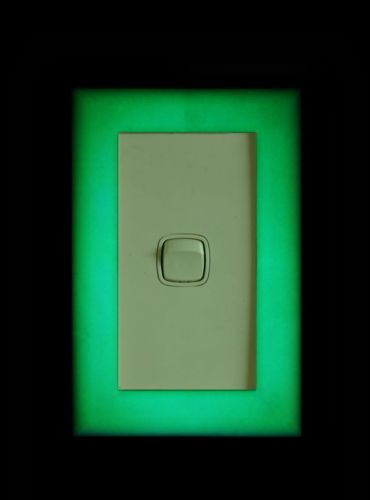 Light switch cover - glow in the dark