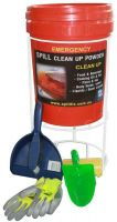 Zorbe indoor absorbent powder starter spill kit with stand